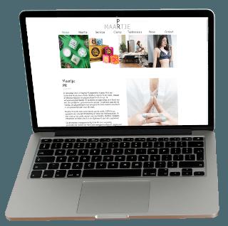 Maartje PR laptop screen