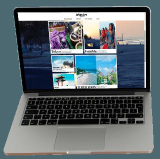 Tripster Magazine laptop screen
