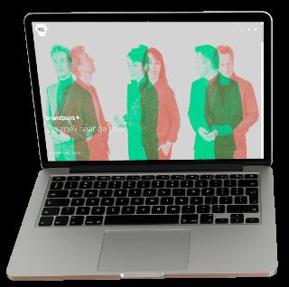 Brandpunt+ Showcase laptop screen