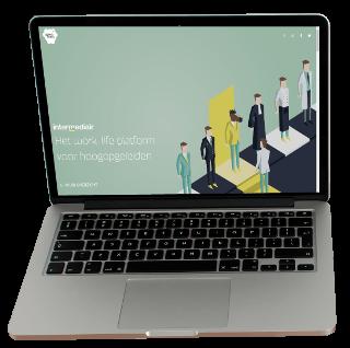 Intermediair Showcase laptop screen