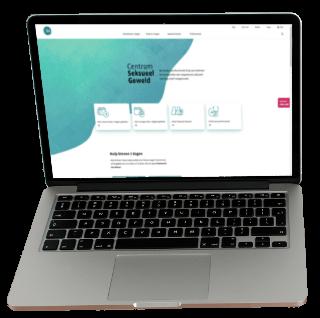 Centrum Seksueel Geweld laptop screen